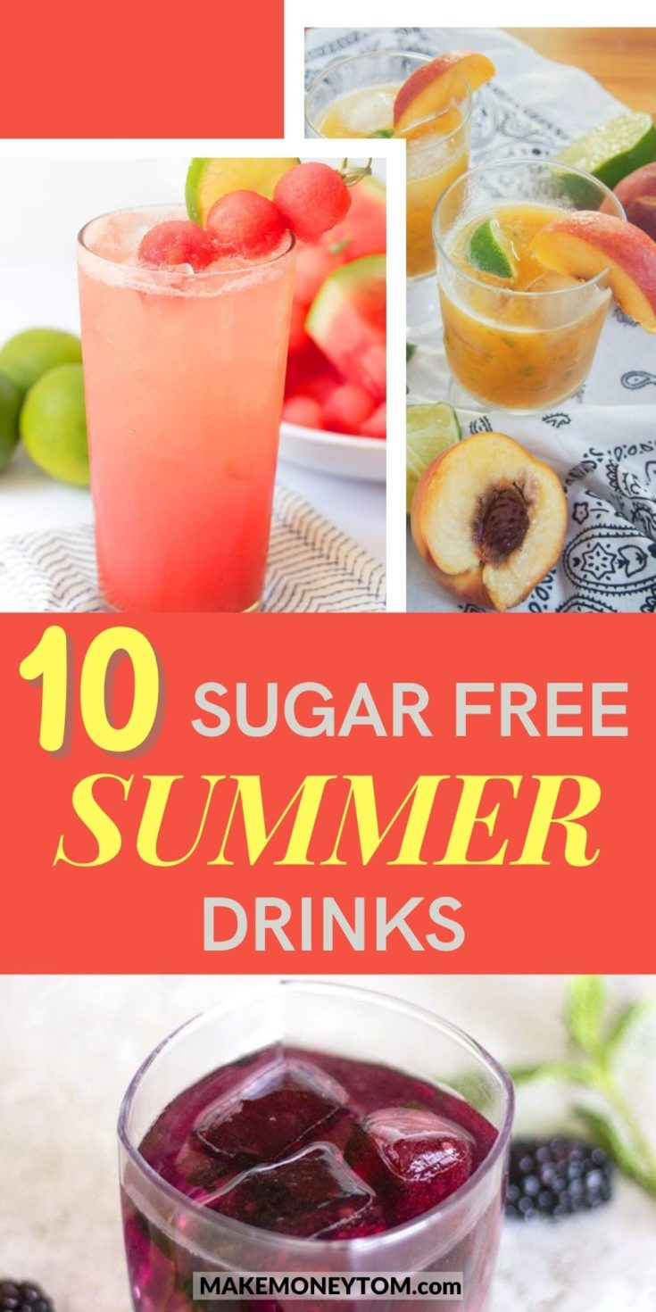 10 Natural Sugar-Free Fruit and Herbs Summer Drinks