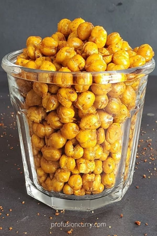 Spicy Roasted Chickpeas – Crispy Masala Chole in Air Fryer or Oven