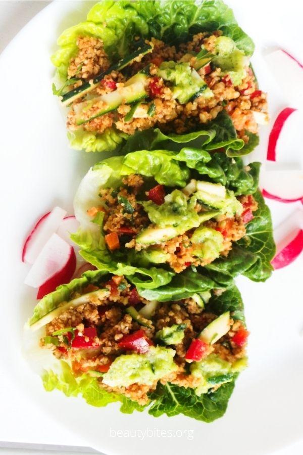 Tasty lettuce Wraps Recipe