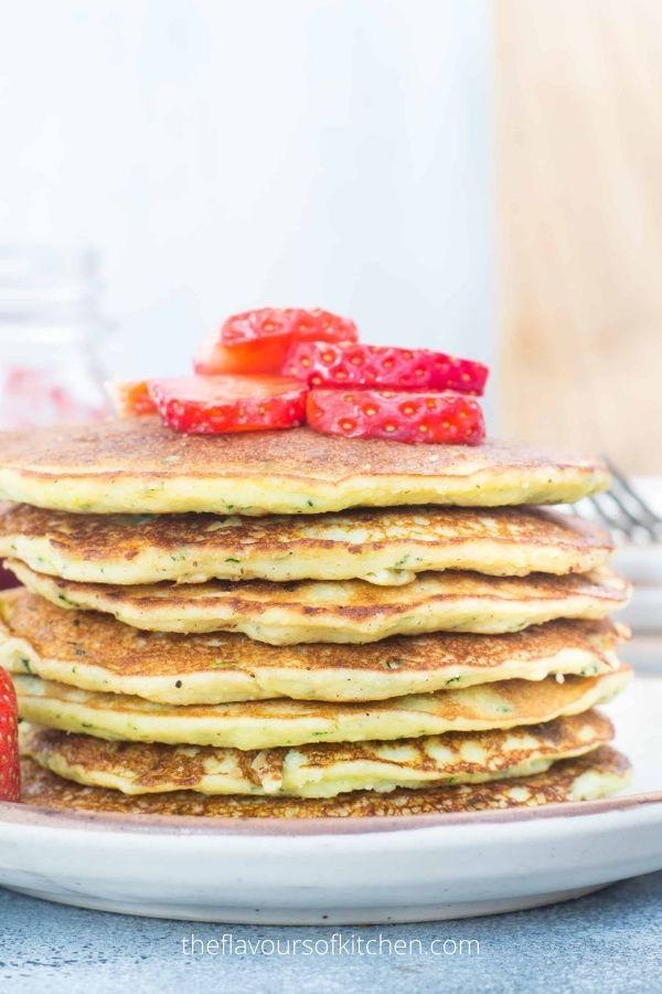Coconut Flour Pancakes with Zucchini