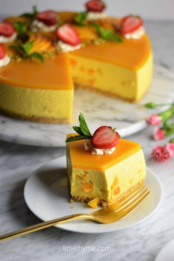 The ULTIMATE no bake mango cheesecake