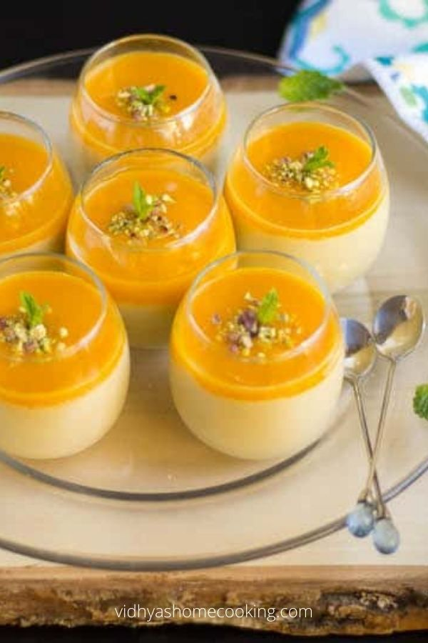 Vegan Mango Mousse with Coconut Milk Cream - Vegan Mango Desserts