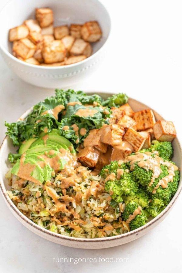 Low Carb Vegan Dinner Bowl