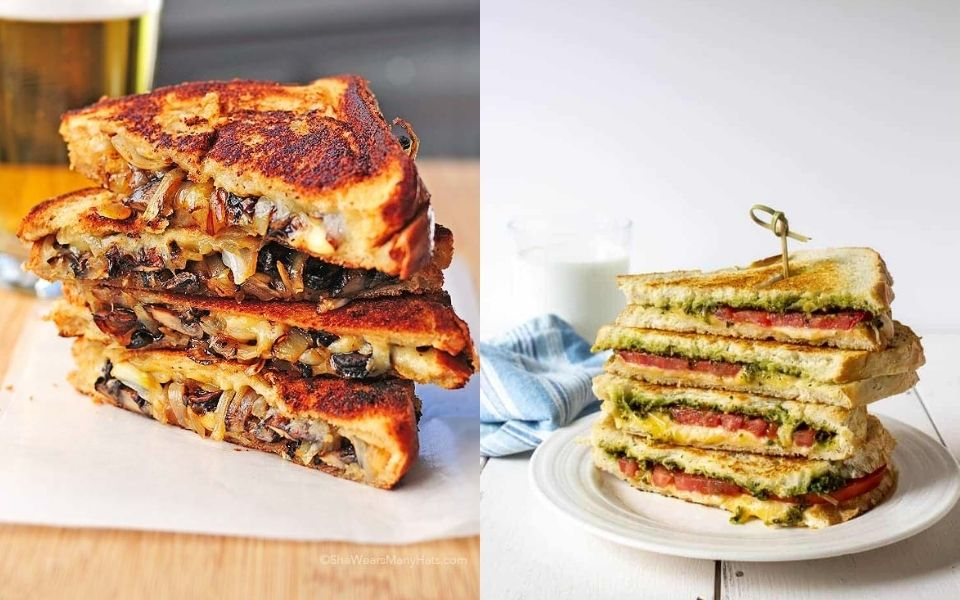 10 Easy grilled Cheese Sandwich Recipes