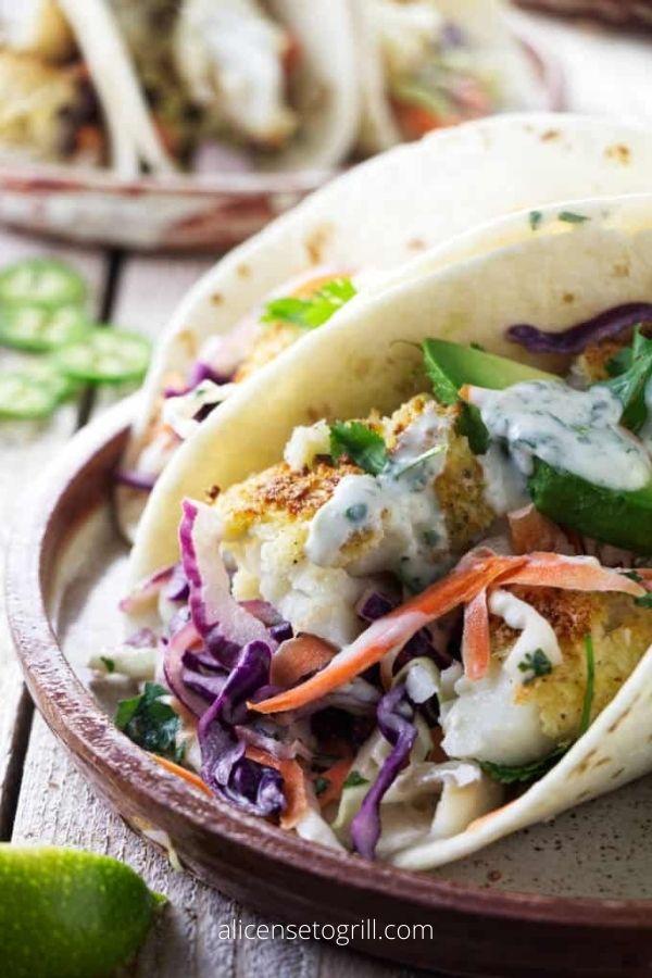 Air Fryer Tilapia Fish Tacos