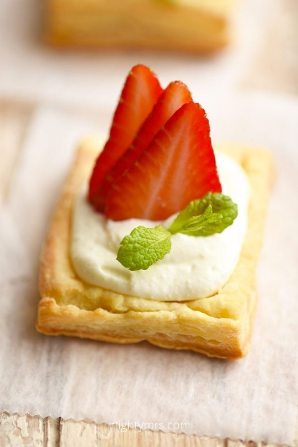 Strawberry Puff Pastry Tartlets