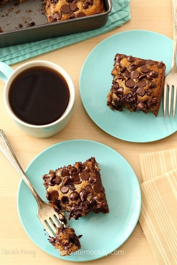 Banana Chocolate Chip Snack Cake (Vegan, Eggless, Dairy Free)