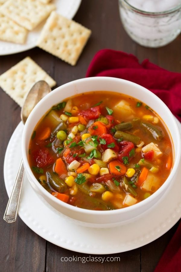 Vegetable Soup A Healthy Frugal Meal Recipes