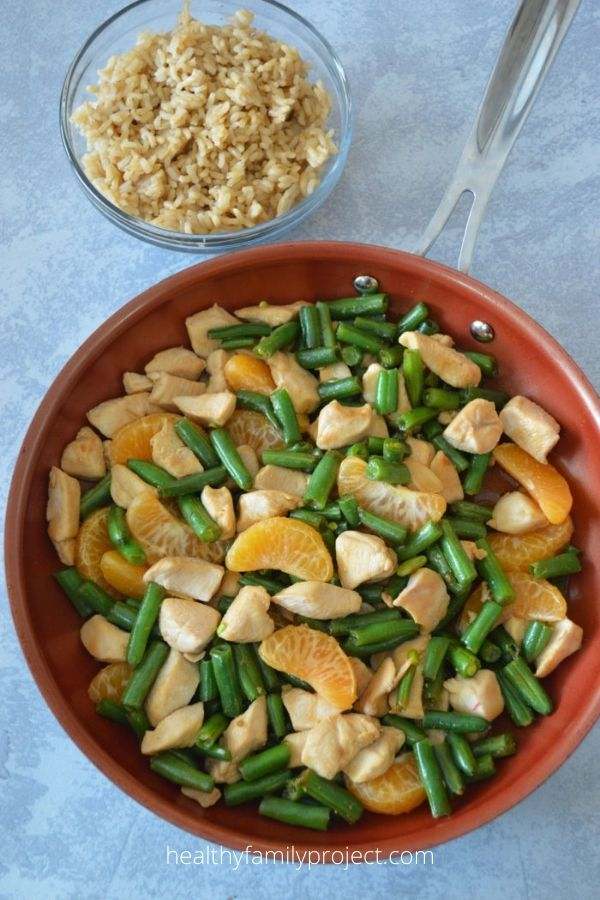 Mandarin Chicken Stir-fry with Green Beans