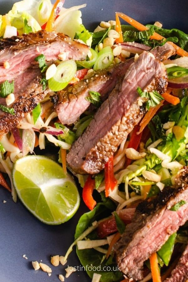 Easy Beef Salad With Asian Slaw