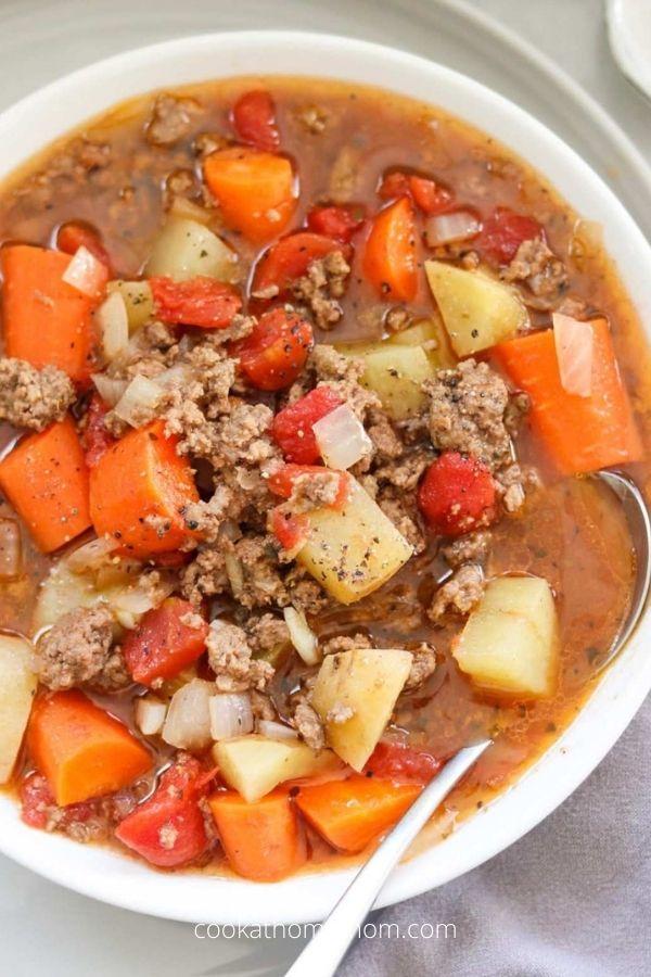Poor Man's Stew (Hamburger Stew) – Slow Cooker or Instant Pot