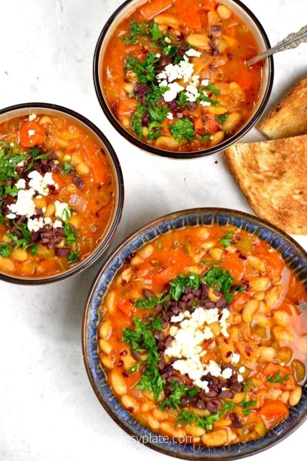 Fasolada (Greek White Bean Soup) A Healthy Frugal Meal Recipes