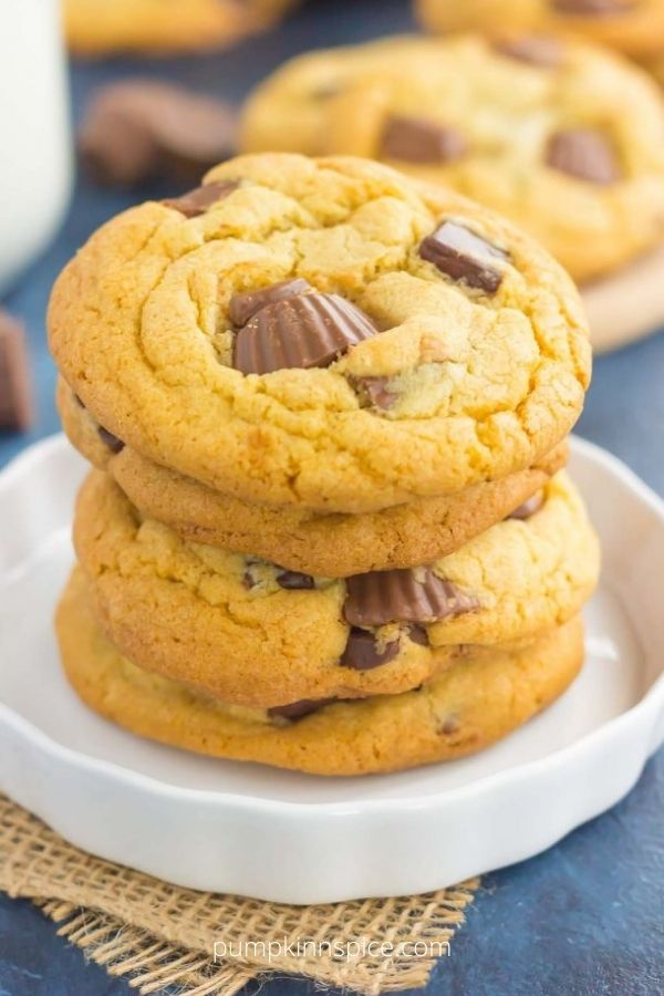 Chocolate Chunk Peanut Butter Cup Cookies