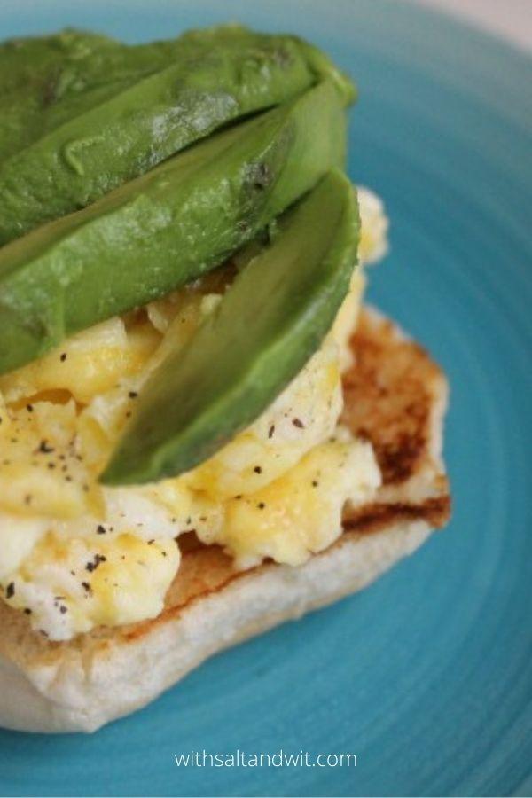 Avocado, Bacon and Brie Breakfast Sandwich
