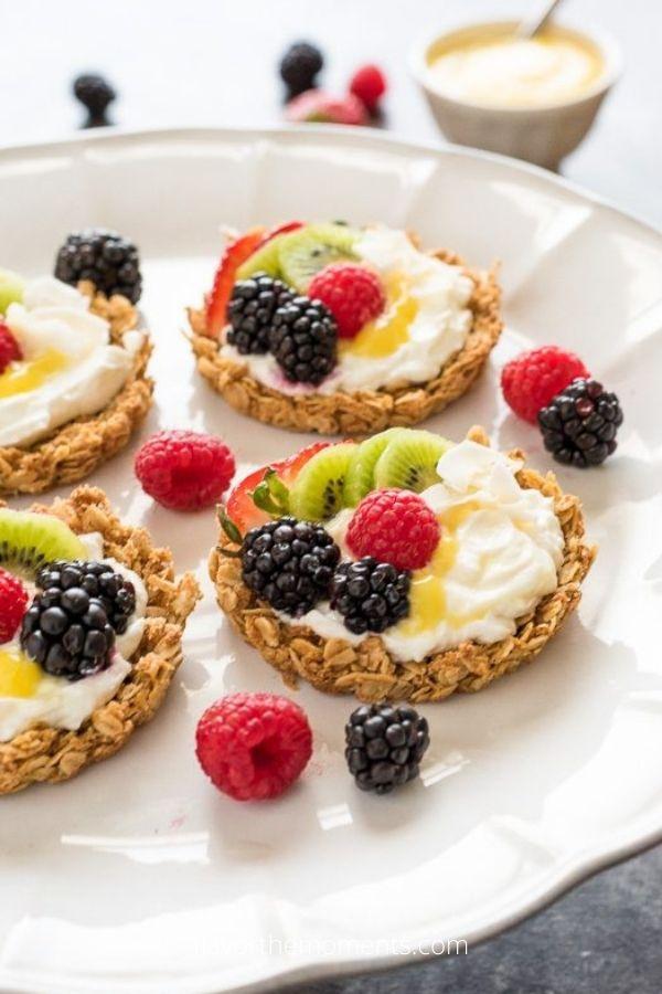 Breakfast Fruit Tarts with Granola Crust