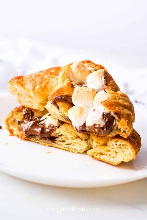 Stuffed Croissants Breakfast Boats