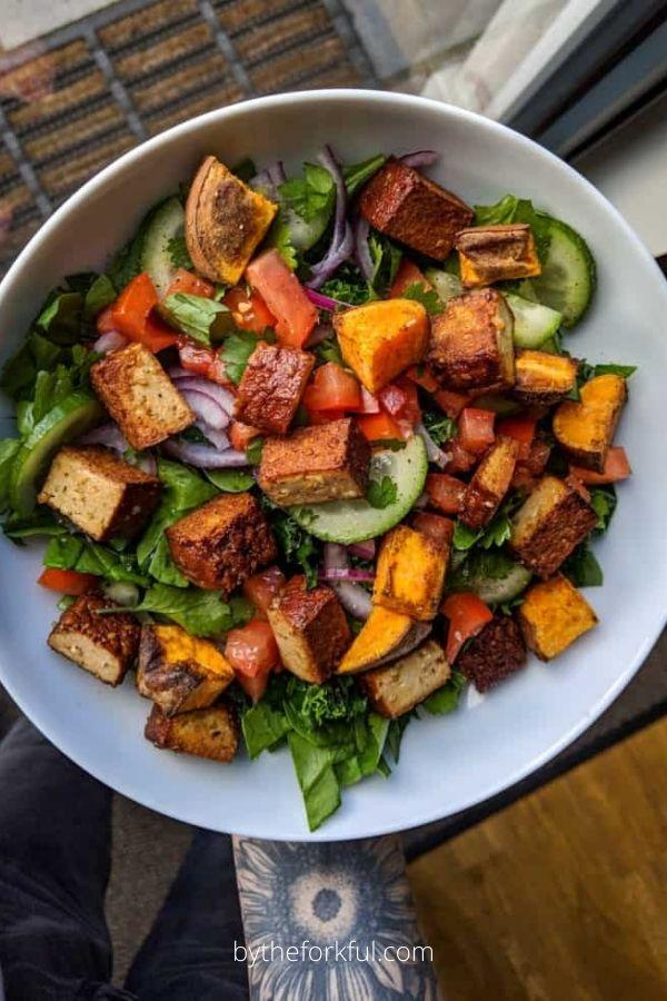Tofu & Sweet Potato Summer Salad