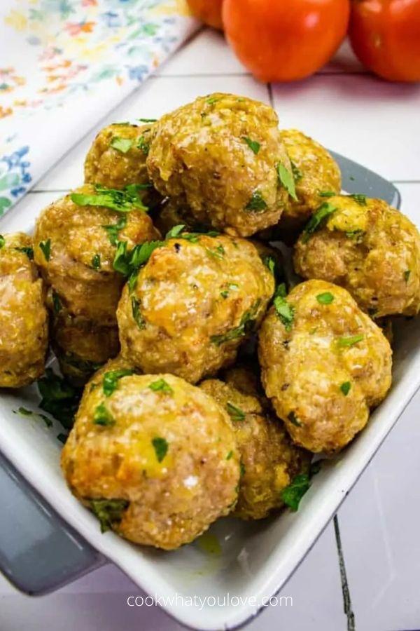 Air Fryer Turkey Meatballs