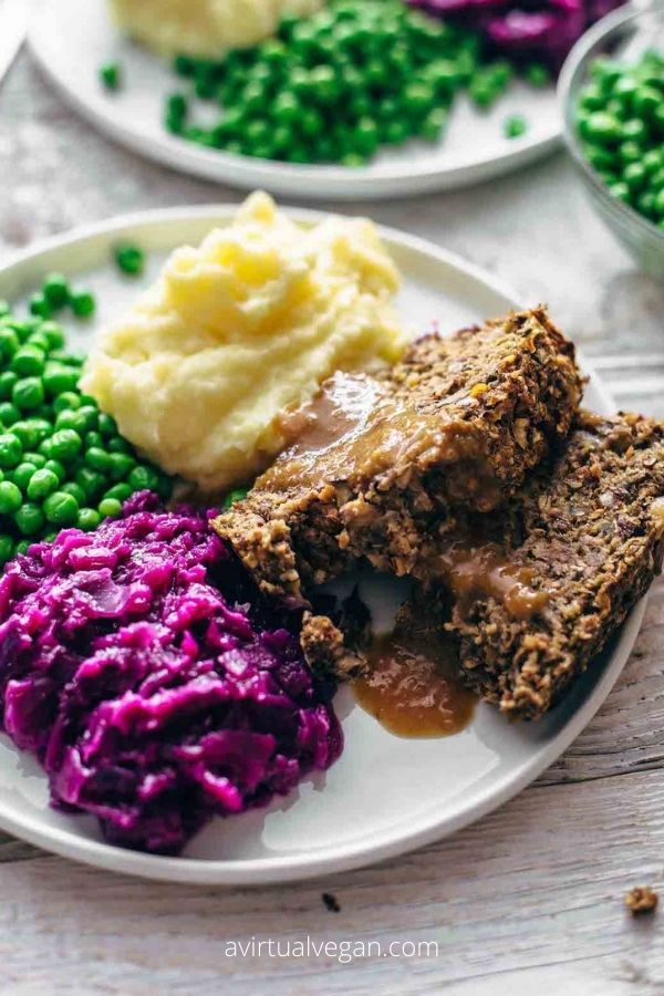 Vegan Meatloaf with Gravy