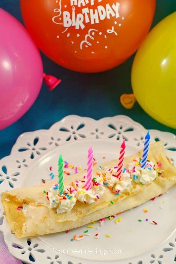 Birthday Cake Batter and Ice Cream Crepes: Birthday Breakfast!