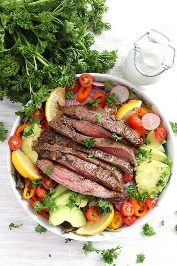 Steak Salad with Blue Cheese Dressing Recipe