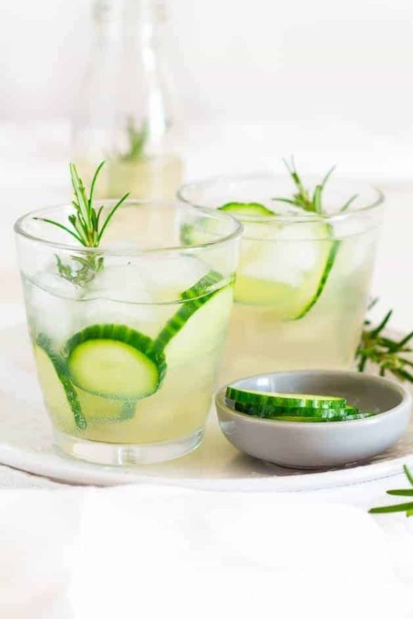 Rosemary and Cucumber Infused Ginger Beer