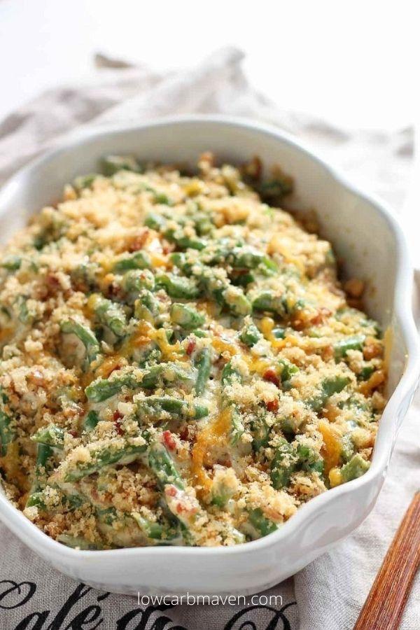 Thanksgiving Keto Green Bean Casserole