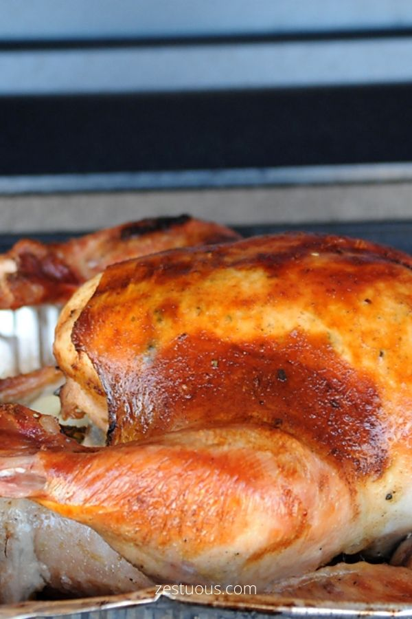 Brined and Grilled Turkey