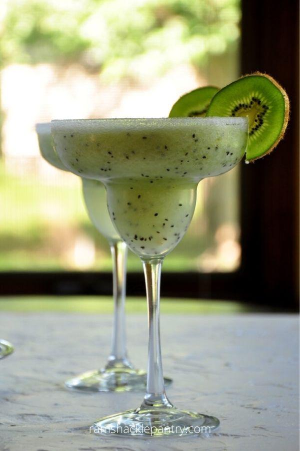 Frozen Kiwi Coconut Margarita