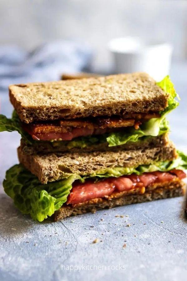 Vegan BLT Tempeh Sandwich