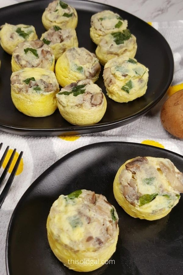 Pressure Cooker Low Carb Mini Mushroom Quiche Egg Bites