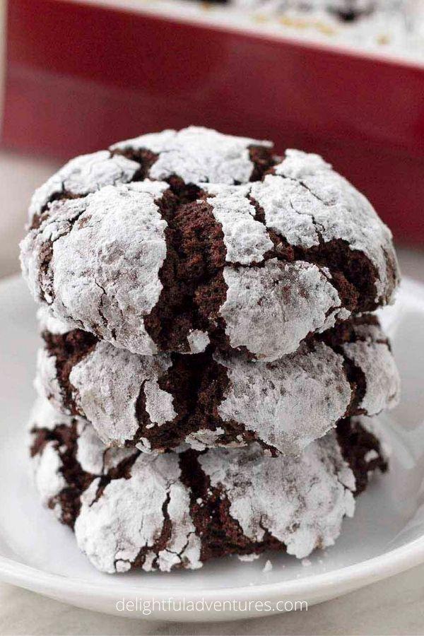 Vegan Gluten-Free Chocolate Crinkle Cookies