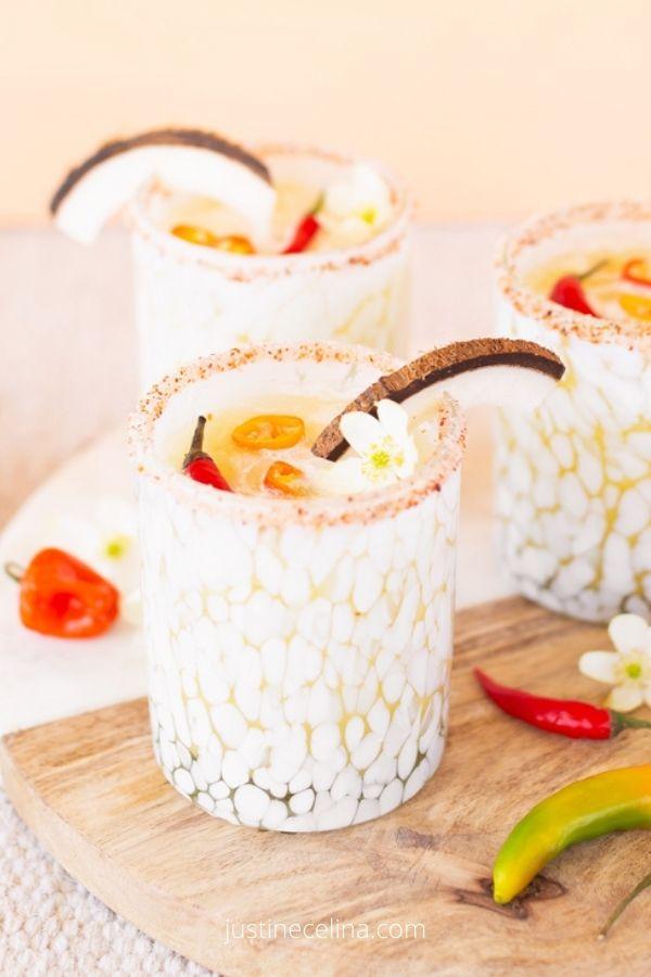 Creamy Coconut Mango Mezcalritas