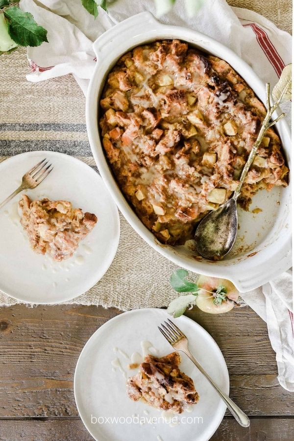 Delicious Fall Apple Recipes Featuring Apple Brioche Bread Pudding