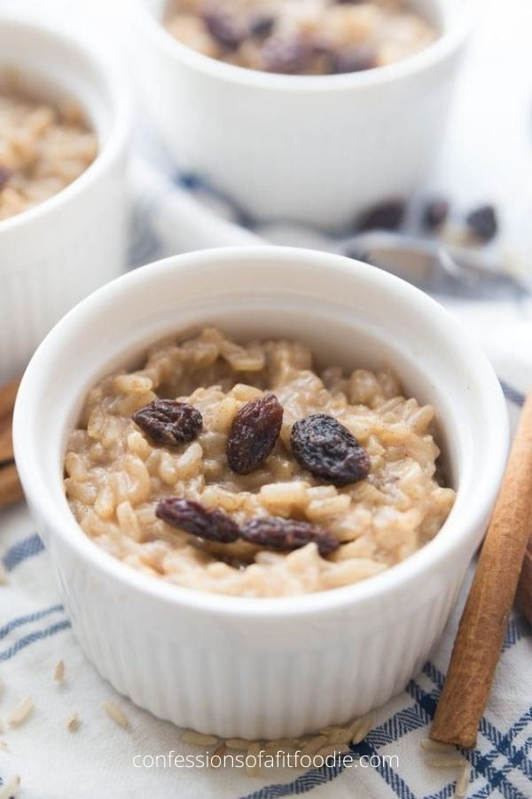 Healthy Instant Pot Brown Rice Pudding
