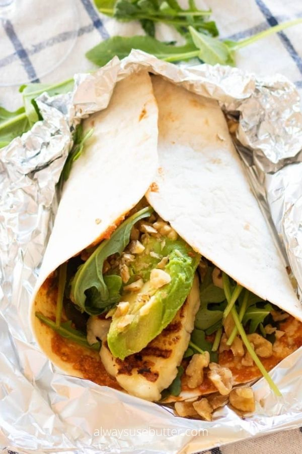 Easy Halloumi Wraps (Vegetarian)