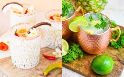 10 Beautiful Tropical Coconut Cocktail Recipes