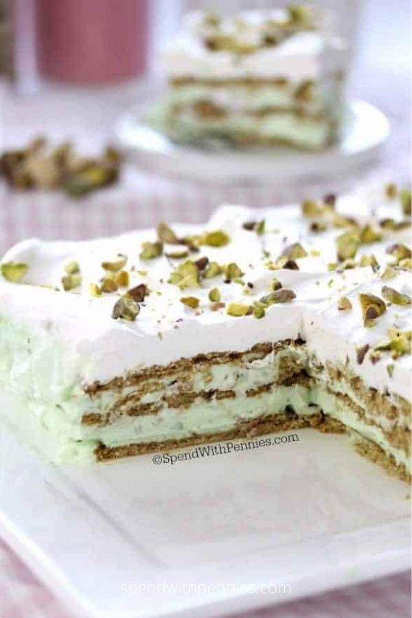 No Bake Pistachio Icebox Cake