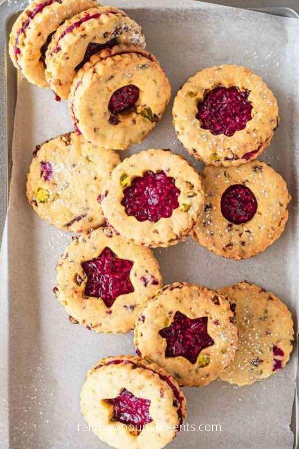 Pistachio and Cranberry Vegan Christmas Cookies