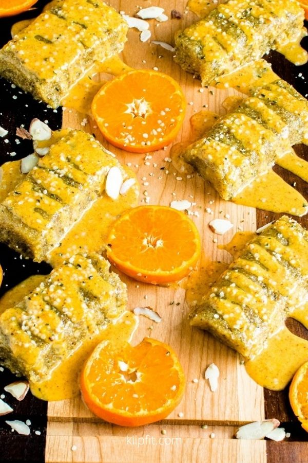 No Bake Orange Almond Protein Bars